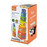 """Набір кубиків Viga Toys """"Пірамідка"""" (59461), фото 1"""