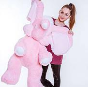 Слон – большая мягкая игрушка, большой розовый слон 120 см