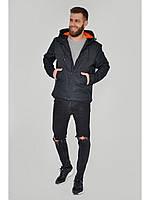 Мужская куртка ветровка Riccardo Z1в Чорний