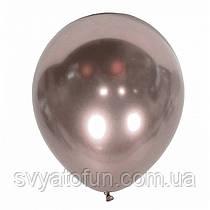 """Латексный воздушный шарик Хром Mirror Rose gold 12"""" 1шт Kalisan"""