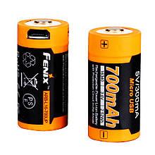Акумулятор 16340 Fenix 700 UP mAh Li-ion + micro usb зарядка