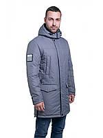 Мужская зимняя куртка-парка  Riccardo Long 3 Серый
