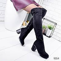 Сапоги женские ботфорты Mia черные 9354