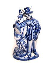 Керамическая статуэтка гжель Зайцы пара