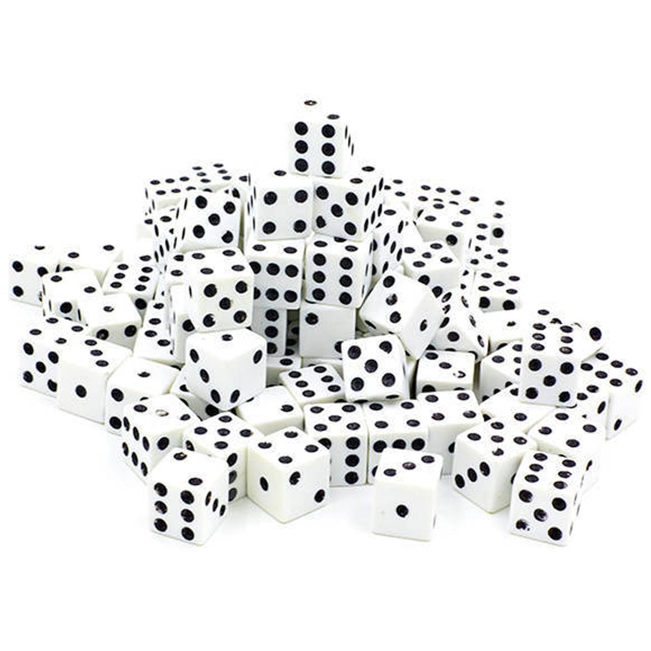 Кости игральные 100 шт (1,5x1,5см) IG-5514