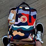 Стильный женский рюкзак-сумка канкен Fjallraven Kanken classic 16 л камуфляж, фото 3