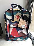 Стильный женский рюкзак-сумка канкен Fjallraven Kanken classic 16 л камуфляж, фото 9