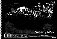 Альбом для рисования Лидер 30/120 на спирали А4 BL4130 черные листы