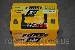 Аккумулятор 60А  евро глазок 600А Forse (Иста)