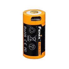 Акумулятор 16340 Fenix 700 mAh Li-ion + micro usb зарядка