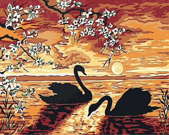 "Картина по номерам. Rainbow Art ""Лебеди на закате"" GX32173-RA, фото 2"