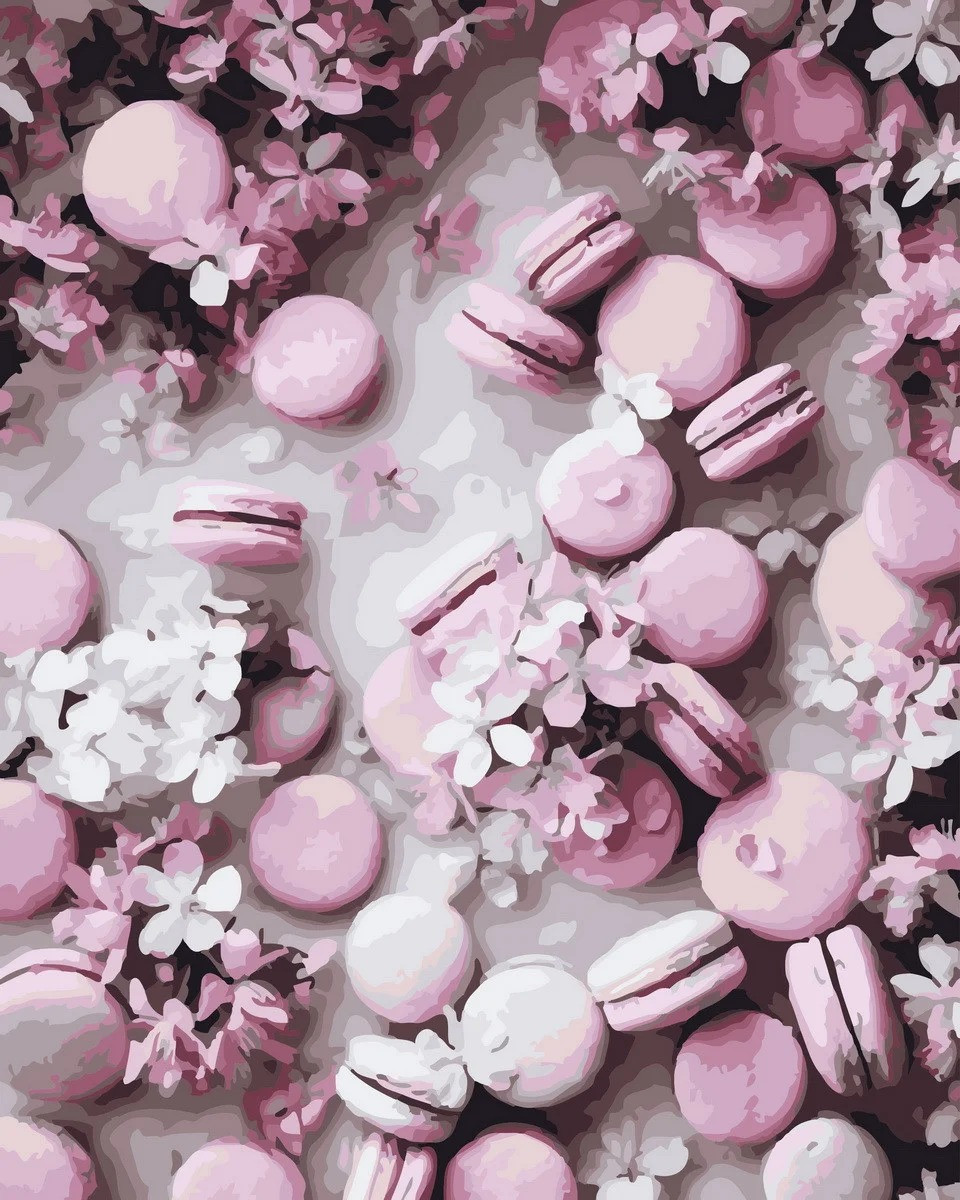 "Картина по номерам. Rainbow Art ""Розовые макаруны"" GX32897-RA"