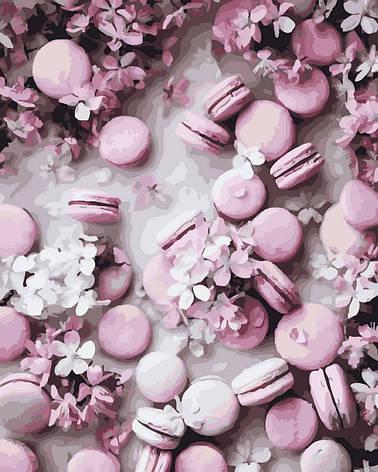 "Картина по номерам. Rainbow Art ""Розовые макаруны"" GX32897-RA, фото 2"