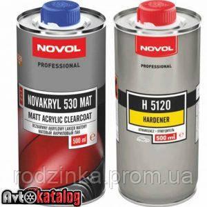 Акриловий лак NOVAKRYL 530 2+1 матовий 0,5 л. + Затверджувач H5120 NOVAKRYL 0,5 л.