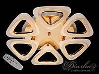 Потолочная люстра с диммером и LED подсветкой, цвет золото, 80W A8118/6G LED 3color dimmer (хром,золото), фото 1