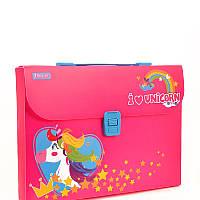 Портфель пласт  A4  491443 Magic Unicorn YES