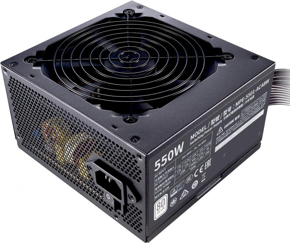 Блок питания Cooler Master MWE White V2 550W,12cm fan,a/PFC,24+8,3xPeripheral,6xSATA,2xPCIe