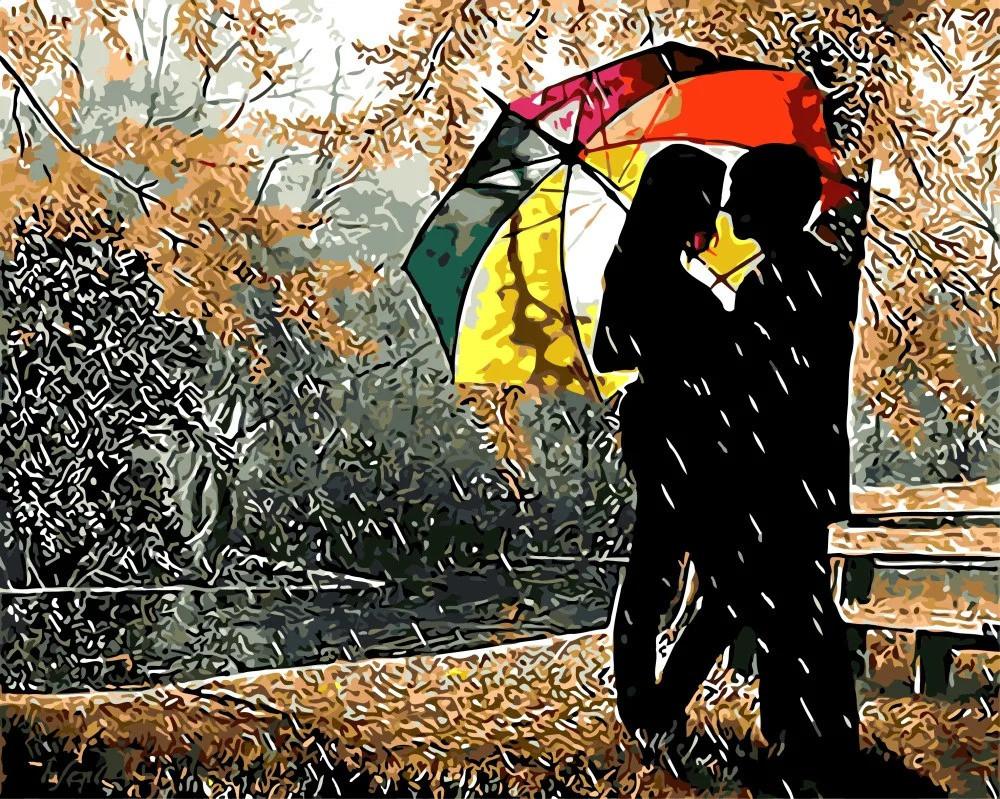 """Картина по номерам. Rainbow Art """"Под разноцветным зонтом"""" GX8840-RA"""