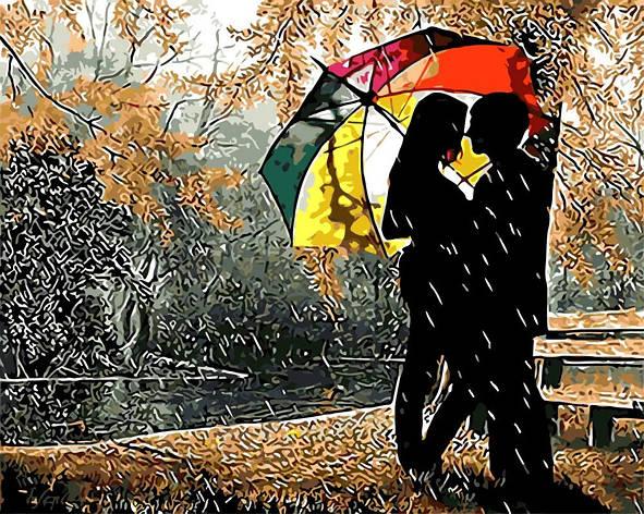 """Картина по номерам. Rainbow Art """"Под разноцветным зонтом"""" GX8840-RA, фото 2"""