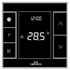 Умный термостат MCO Home для  водяного теплого пола/водонагревателя, Z-Wave, 230V АС, 10А, черный