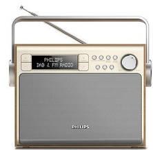 Портативный радиоприемник Philips AE5020 Wood FM/DAB+ LCD/подсвет. 3Вт