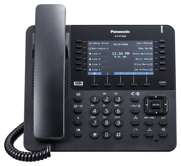Проводной IP-телефон Panasonic KX-NT680RU-B Black для АТС Panasonic KX-NS/NSX