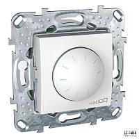 Выключатель поворотно-нажимной  Schneider Unica 40-1000 Вт белый с суппортом (MGU5.512.18)