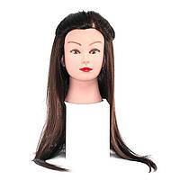 Болванка шатенка искусственные волосы гофре YRE