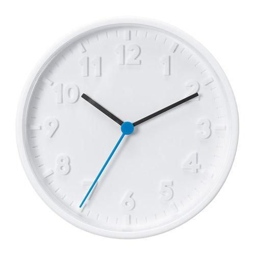 ИКЕА (IKEA) STOMMA, 003.741.36, Часы, белый, 20 см - ТОП ПРОДАЖ