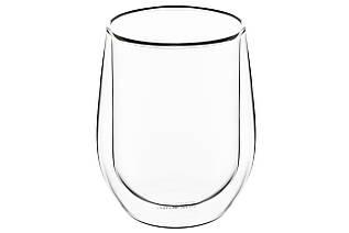 Набор чашек Ardesto с двойными стенками для латте, 320 мл, 2 шт, боросиликатное стекло