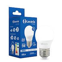 Лампа LED Lectris G45  5W 4000K 220V E27