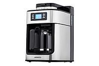 Кофеварка Ardesto YCM-D1200 - капельная/ 1.2 л/ дисплей/ встр. кофемолка