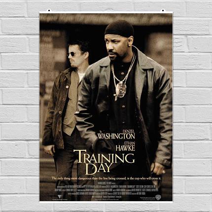 """Постер """"Training Day (2001)"""". Тренировочный день. Размер 60x42см (A2). Глянцевая бумага, фото 2"""