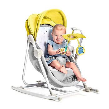 Шезлонг-качалка 5 в 1 Kinderkraft Unimo Yellow +ВИДЕО ОБЗОР