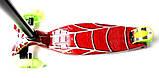 Самокат трехколесный детский Maxi принт Red web, фото 3