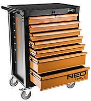 Шкаф-тележка для инструмента NEO, 7 ящиков, 680x460x1030мм, грузоподъемность 280 кг, стальной корпус
