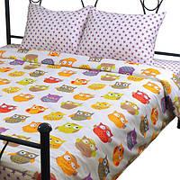 Комплект постельного белья из сатина Руно Совы_1 Полуторный комплект