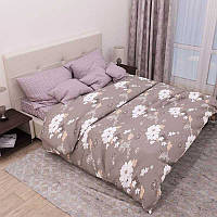 Комплект постельного белья из бязи Руно 4110(А+В) бежевый Полуторный комплект