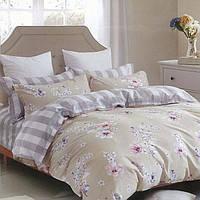 Комплект постельного белья из бязи Руно 3003(А+В) бежевый Полуторный комплект