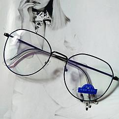 Имиджевые очки черные  с анти бликом