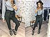 Жіночі брюки з ангори, розмір С, М, Л, ХЛ, висока посадка, фото 2