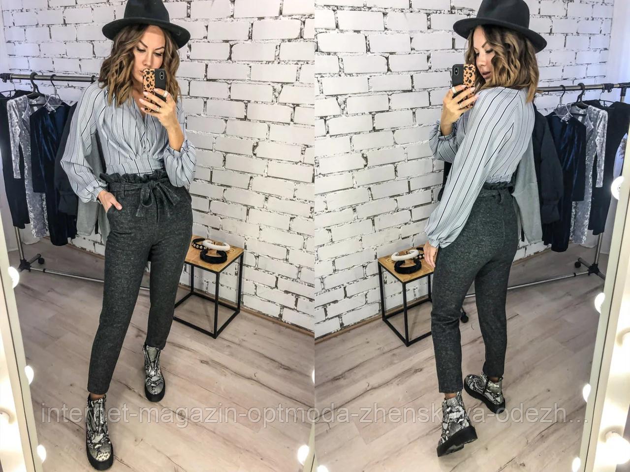 Жіночі брюки з ангори, розмір С, М, Л, ХЛ, висока посадка