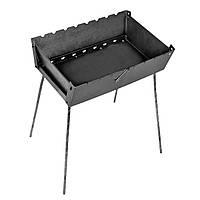 Мангал-чемодан складной металлический толщина 3 мм на 8 шампуров