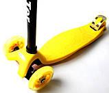 Самокат трехколесный детский Maxi Yellow, фото 2
