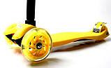 Самокат трехколесный детский Maxi Yellow, фото 3