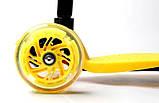 Самокат трехколесный детский Maxi Yellow, фото 4