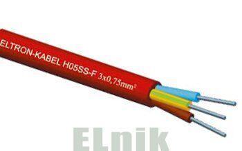 Провод термостойкий трехжильный H05SS-F 3x0,75