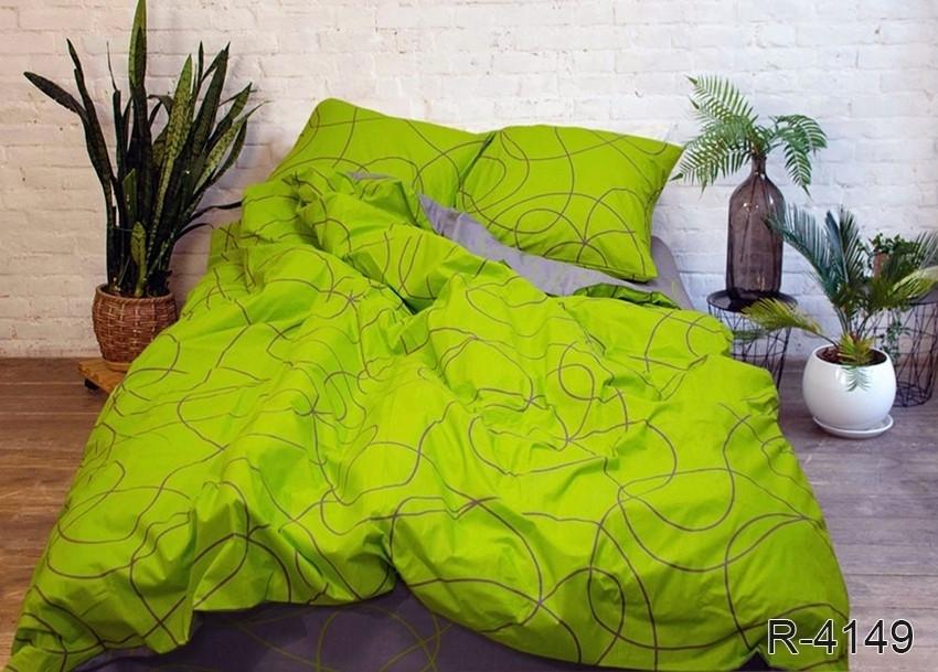 Полуторный комплект постельного белья ренфорс с компаньоном R4149