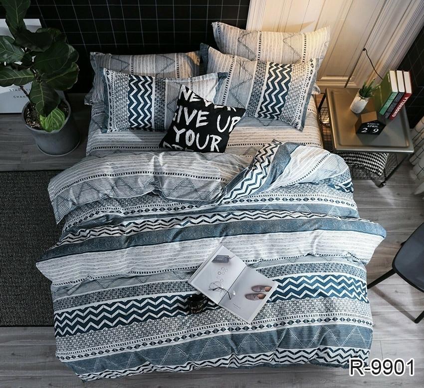 Полуторный комплект постельного белья ренфорс с компаньоном R9901