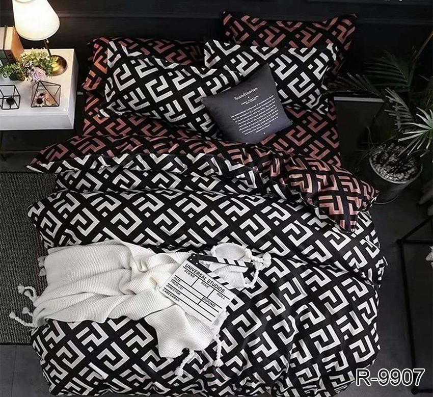 Полуторный комплект постельного белья ренфорс с компаньоном R9907